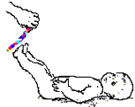 Поднимание выпрямленных ног.